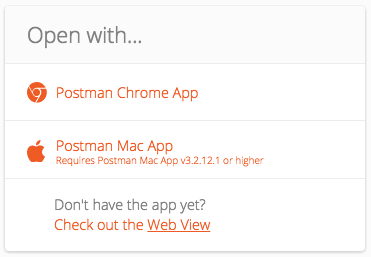 Run in postman popup